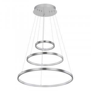 Pendul LED 57W, dimabil, lumina calda, metal, culoare nichel, 67192-57 Globo