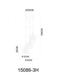 Pendul negru, dulie E27, Globo 15086-3H