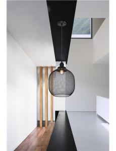 Pendul negru mat, dulie E27, Globo 15047H5