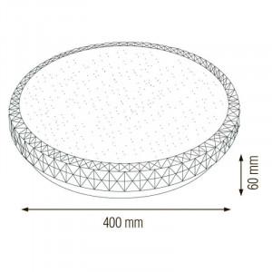 Plafoniera led Ghost 36W, diametru 400 mm, lumina rece (6400 K), roz