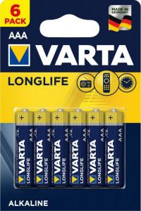 Set 6 baterii R3 AAA Alkaline, Varta Longlife