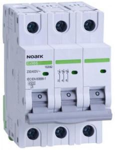 Siguranta automata 3P, 16A, curba de declansare C, capacitate de rupere 4,5kA, Noark