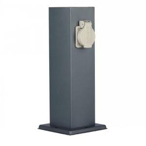 Stalp pentru gradina, 2 prize, IP44, 300 mm, otel inoxidabil, V-TAC