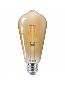 Bec led Vintage, E27, 4W(35W), forma avocado, lumina calda, A+, Philips