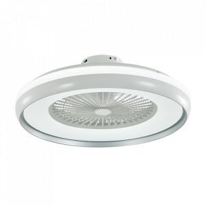 Candelabru cu ventilator 45W, led 35W, telecomanda pentru temperatura de culoare a luminii, gri, V-TAC
