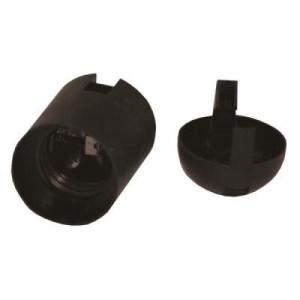 Dulie E27 plastic, neagra, Strohm