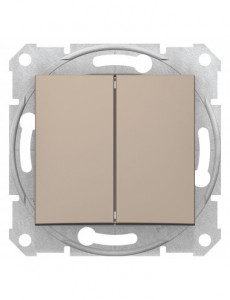 Intrerupator dublu alternativ 10A, IP20, Titan, Schneider Sedna