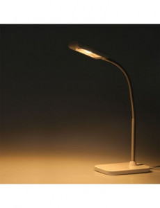 Lampa de birou led 3.6W, 260 lm, inaltime ajustabila, lumina calda 3000K, alba, V-TAC