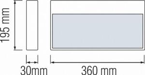 Lampa emergenta LED 1.5W, vizibila din ambele parti, 90 minute
