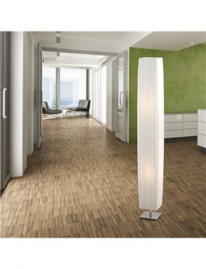 Lampadar alb plisat, 2 becuri, dulie E27, Globo 24662