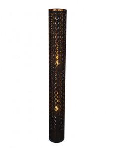 Lampadar negru auriu, 2 becuri, dulie E27, Globo 15329S