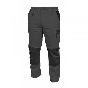 Pantaloni de lucru Edgar, gri cu negru, 5 buzunare, elemente reflectorizante, Hogert Technik