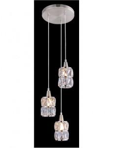 Pendul argintiu, 3 becuri, dulie E14, Globo 15760-3