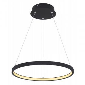 Pendul LED 19W, dimabil, lumina calda, metal, culoare negru, 67192-19B Globo