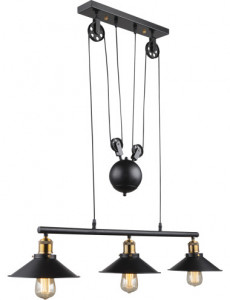 Pendul vintage negru, dulie E27, Globo 15053-3