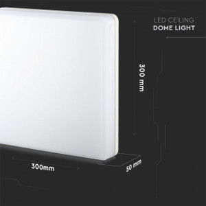 Plafoniera led 25W led Samsung, IP44, lumina neutra, patrata, 2500 lm, V-TAC