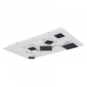 Plafoniera LED cu telecomanda, putere 65W,alb-negru, 48290-65 Globo