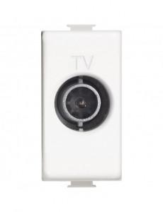Priza TV capat, 1 modul, alba, Bticino Matix