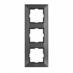Rama 3 module, verticala, IP20, Grafit, Panasonic Arkedia Slim