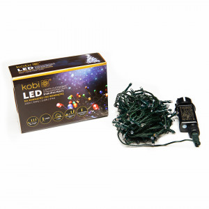 Sir luminos 100 leduri, 10 metri, 7 programe, 3.6W, multicolor Kobi