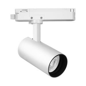Spot LED pe sina, 15W, lumina calda(3000 K), 1180 lm, alb, Braytron Plus