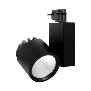 Spot LED pe sina, 30W, lumina calda(3000 K), 2600 lm, negru, Braytron