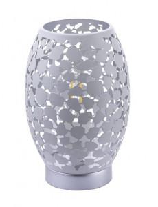 Veioza metalica argintie, 1 bec, dulie E27, Globo 24003W