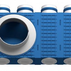 Distribuitor 8 cai x 75 DN200 plastic ABS triplu tratat