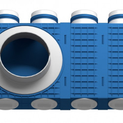 Distribuitor 8 cai x 75 DN160 marit plastic ABS triplu tratat