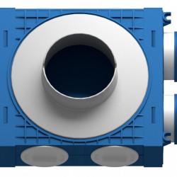 Distribuitor 2 cai x 75 DN125 plastic ABS triplu tratat