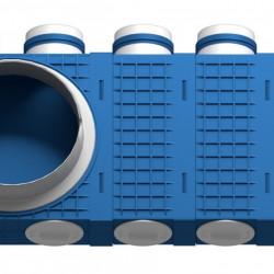 Distribuitor 9 cai x 75 DN200 plastic ABS triplu tratat