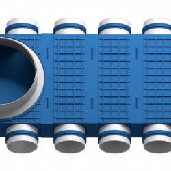 Distribuitor 16 cai x 75 DN200 plastic ABS triplu tratat