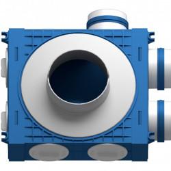 Distribuitor 3 cai x 75 DN125 plastic ABS triplu tratat