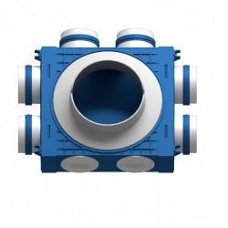 Distribuitor 6 cai x 75 DN160 plastic ABS triplu tratat