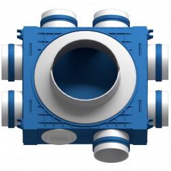 Distribuitor 7 cai x 75 DN160 plastic ABS triplu tratat