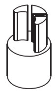 Dop inferior bara intindere prelata, Sesam/Edscha, fi34, 0,20kg, baza 13x13. Suer. Cod: 670999206