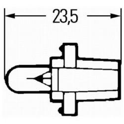 Bec tahograf 24V 1,2W B8,2D Hella