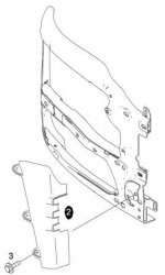 Deflector aer din bara dreapta MAN TGX Euro6