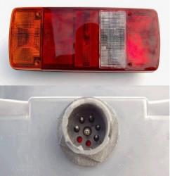 Lampa stop stanga cu conector AMP 8 MAN F/M/L