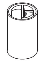 Dop inferior bara intindere prelata, Sesam/Edscha, fi34, 0,21kg, baza 13x13. Suer, material inox. Cod: 670025372