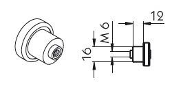 Rola Roof Mixliner M6, 16x12mm. Cod: 650000036