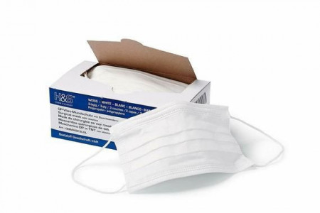 Surgical Face Masks by ISC H&S with Earloop 3 Ply, Pack of 50 Masks, PAKOVANJE 50.Lomada