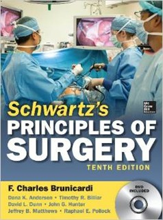 "Slika Schwartz""s Principels of Surgery 14th. 2014 godina"