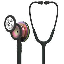 Littmann Classic III Monitoring Stethoscope: Black - Rainbow Finish 5870