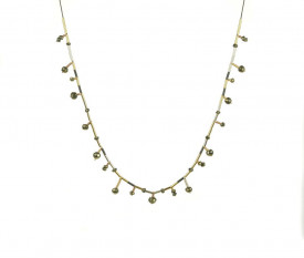 Supernova pyrite drops necklace in 14k/20 gold filled