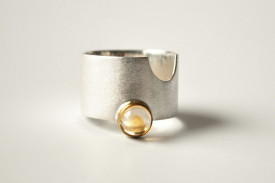 Match Point citrine ringin sterling silver