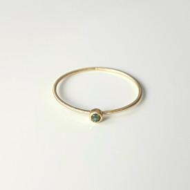 inel Essence of Green din aur 18k si 14 k mat cu turmalina verde