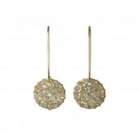Pendulum labradorite earrings in 14k/20 gold filled