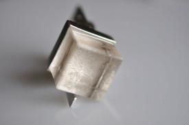 Magic Cube quartz stardust sterling silver ring