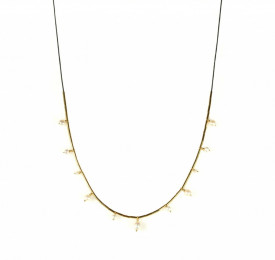 pearl drops necklace in 14k/20 gold filled